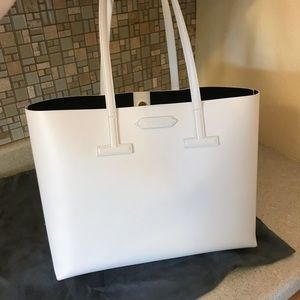 Auth. Tom Ford 2019 Large Textured Leather T Tote
